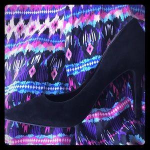 BCBG black suede pointed Treasure heel, 8.5M